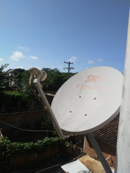 Antena Sky (oi Tv) 60cm - Lnb Duplo - Suporte - Mastro.