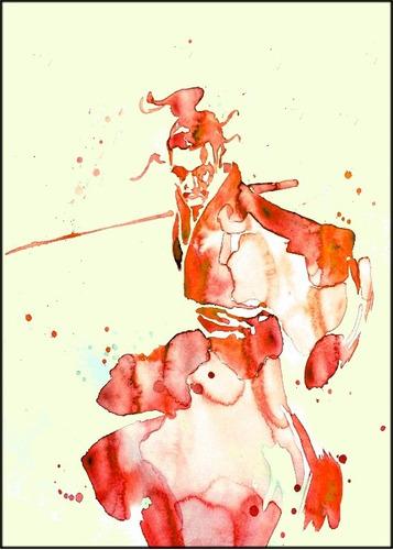 Poster 65x100cm Samurai Oriental Japones - Não É Adesivo