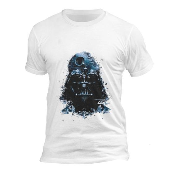Playera Blanca Caballero Algodón Star Wars Darth Vader