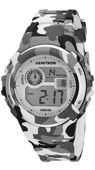 Armitron Sport Unisex 45/7059cgy Digital Grey And Black Camo