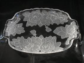 Raridade Antiga Grande Fruteira Bandeja Cristal Mod Lalique