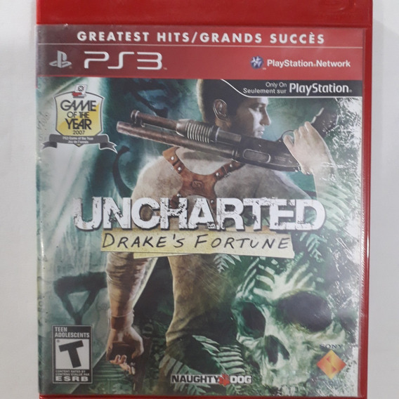 Ps3 - Uncharted Drake´s Fortune - Original - Mídia Física