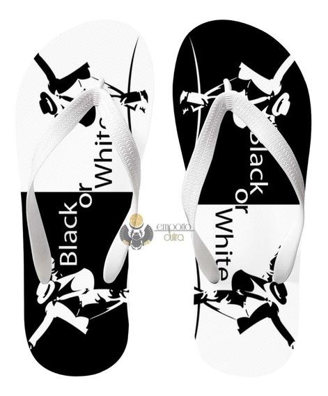 Chinelo Michael Jackson Black Or White Rei Do Pop Musica