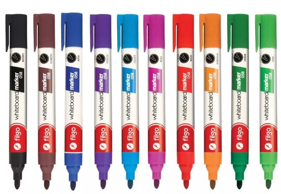 Marcador Filgo 058 Para Pizarra 10 Colores Surtidos