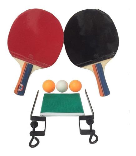 Set Ping Pong Combo 2 Paletas + Red + Pelotas H O T S A L E