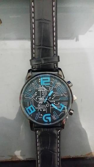 Relógios Pulseira De Couro Dos Homens De Luxo Analógico