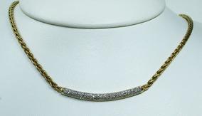 Pocao2005- Colar De Ouro 18k75 Diamantes Vivara C275