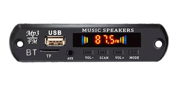 4 Placa P/ Amplificador Modulo Usb Mp3 Player Bluetooth