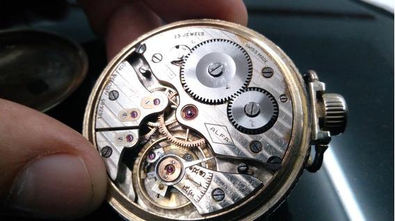 Reloj De Bolsillo Súper Alfa 23 Joyas Ferrocarrilero