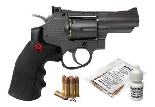 Revolver Co2 Snr357 Cuerpo Metal Calibre 4.5 Mendoza
