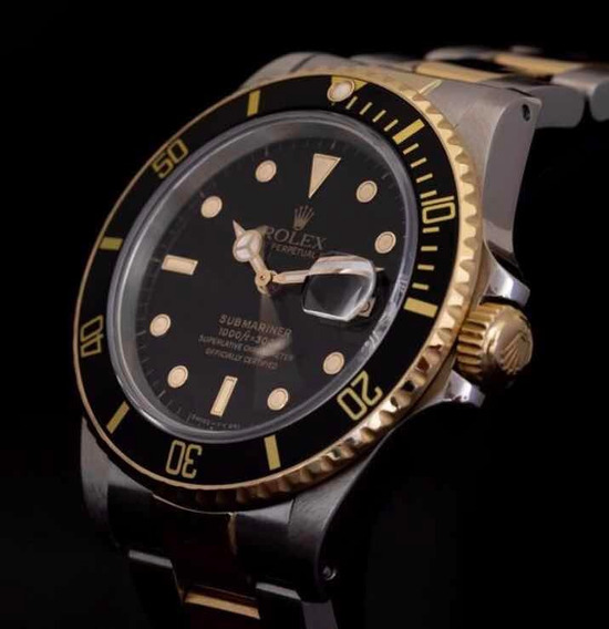 Rolex Submariner Aço Ouro Sólido Completo 1985 1680