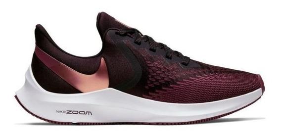 Zapatillas Nike Zoom Winflo 6 Mujer Bordo/ Dorado Aq8228601