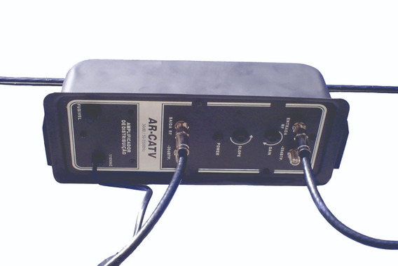 Amplificador 30db Tv Digital Hdtv Arcatv 220v Kit 5 Uni