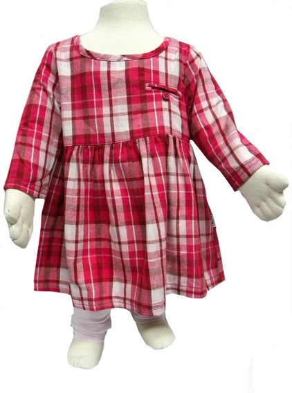 Vestido Hering Bebê Com Calça Fuso Formando Conjunto