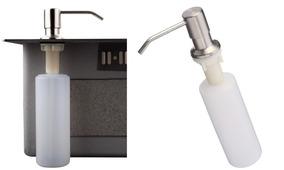 2 Dispensador Inox Sabonete Liquido Embutido Para Pia