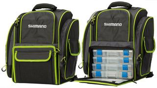 Mochila Shimano Back Pack Com 4 Estojos Modelo Lug 1511 _ Nf _ Original _ Garantia