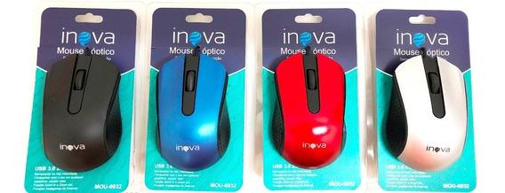 Kit Com 5 Mouse Com Fio Usb Para Computador E Notebook Inova