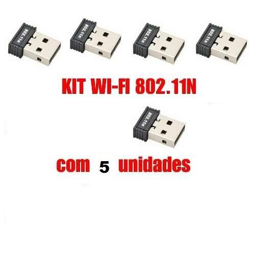 Kit Wifi 5 Adaptador Usb 2.0 Para Computador / Notebook