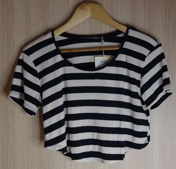 Cropped Camisa Feminina Tam P Marca : Oh Boy Listrada 50% Of