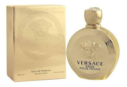 Imagen 1 de 1 de Versace Eros Pour Femme 100 Ml Edp Spray De Versace