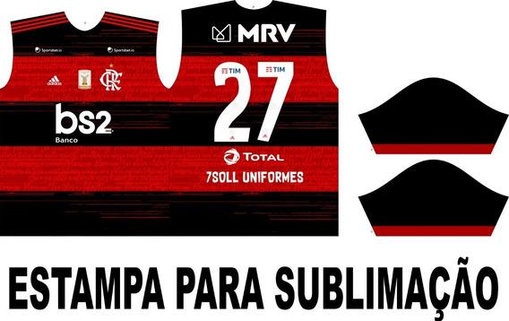 Template Camisa Flamengo 2020/2021 Vetor + Fonte adidas