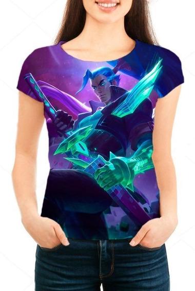 Camiseta Babylook Feminina Lol Yasuo Chefão