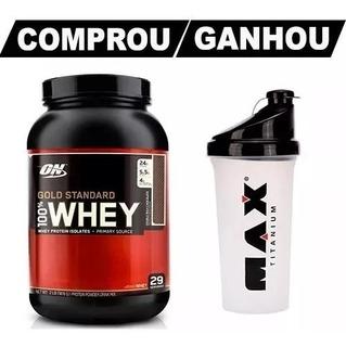 Whey 100% Gold Standard 900g + Shaker + 2 Crea. + Dilatex