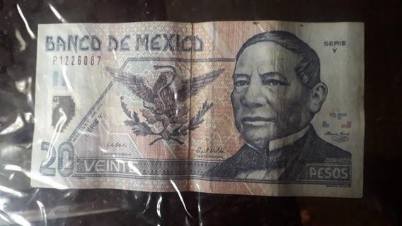 Billete 20 Pesos Polímero Año2006