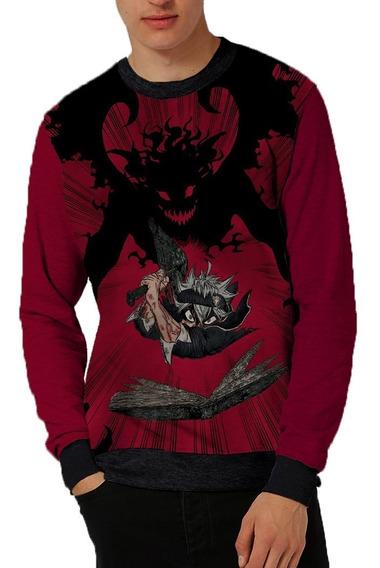Moletom Unissex Anime Black Clover Asta Blood Dark Magia Hq