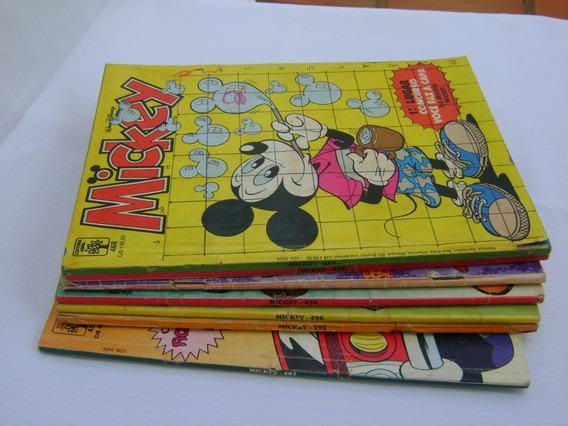 Mickey - Revista Mensal Da Walt Disney - Lote Com 7 Revistas
