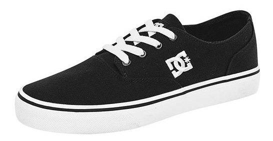 Tenis Deportivo Dc Shoes Textil Niño Negro Flash 59206ipk