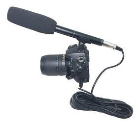 Microfone Direcional Shotgun Para Dslr Canon Nikon Sony