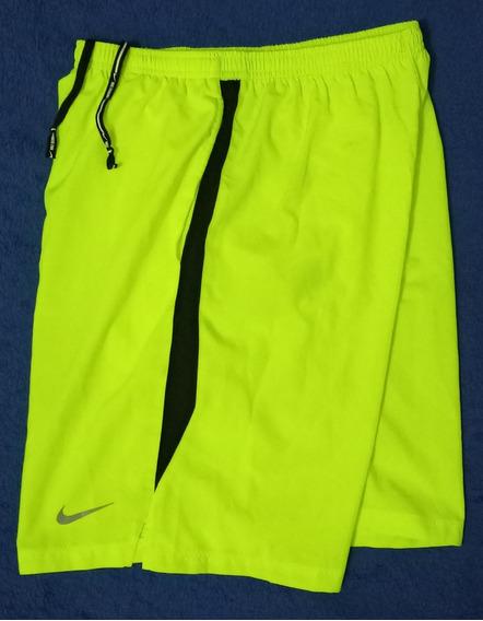 Bermuda Short Nike Runnning Dri Fit Original Verde Americano