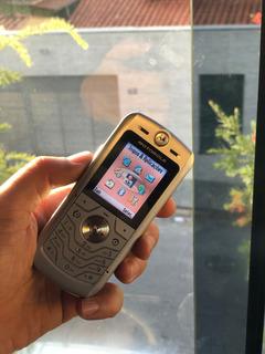 Motorola L6 Gsm Prata Celular Raro Em Perfeito Estado