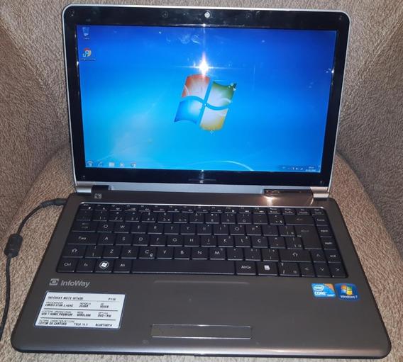 Notbook Itautec W7430 Intel Core I3 Hd 500gb - Semi Novo
