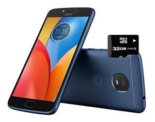 Celular Moto E4 Plus Azul 16gb Libre Fabrica + Micro 32gb