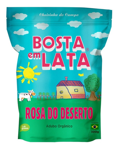 Fertilizante Orgânico Bosta Em Lata Rosa Do Deserto Zip 300g