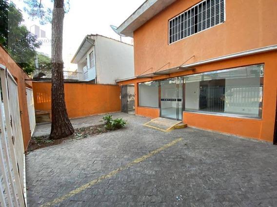 Sobrado Comercial Para Locação No Brooklin, 6 Salas Amplas, 6 Banheiros, 10 Vagas De Garagem, 500 M², T, 500 C, São Paulo. - So0239