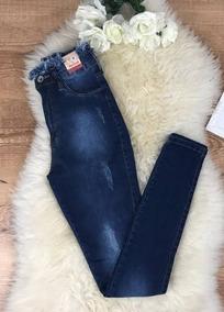 Calça Jeans Levanta Bumbum Cintura Desfiada
