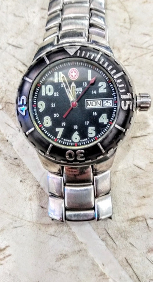 Swiss Army Relógio Suíço Masculino De Pulso Todo Aço Inox