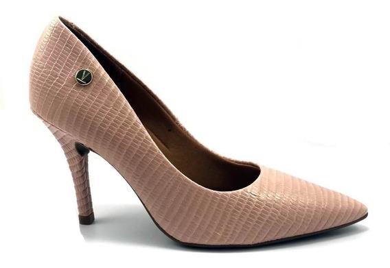 Sapato Feminino Vizzano Salto Alto Fino Verniz Maxxi Lezard