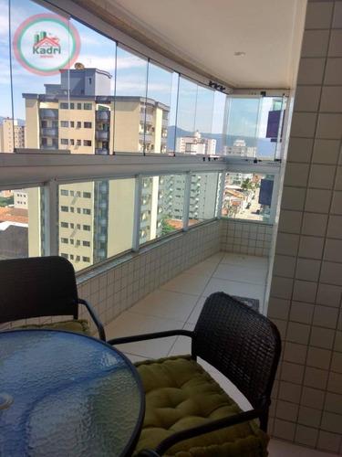 Apartamento Com 2 Dormitórios À Venda, 82 M² Por R$ 420.000,00 - Vila Guilhermina - Praia Grande/sp - Ap5352