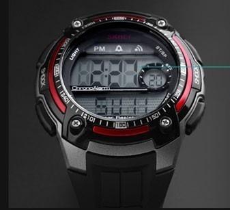 Relógio Skmei 1203 Black/red Original - Queima De Estoque