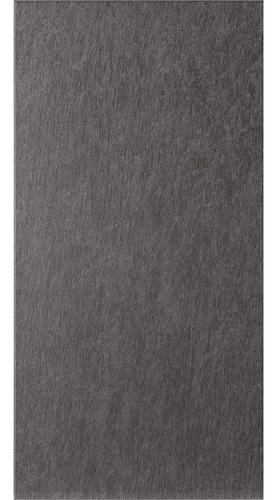 Porcelanato Europeo 30x60 Brillante Grafito Gris Oscuro