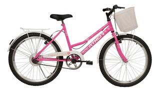 Bicicleta Athor Nature Infantil Aro 24 Feminina C/ Cesto