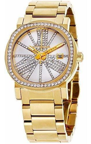 Wittnauer Wn4007 - Reloj Con Esfera Y Bisel Dorado