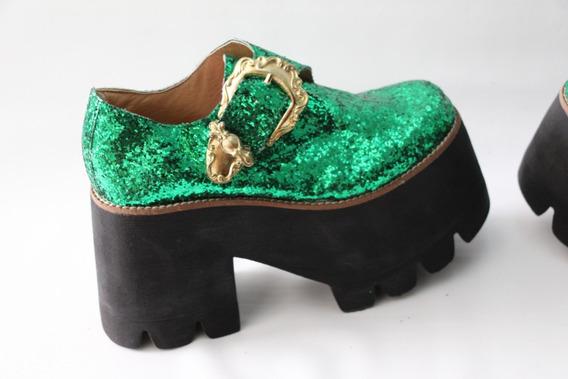 Suecos Zapatos Estilo Gucci Plataforma Unicos - Envio