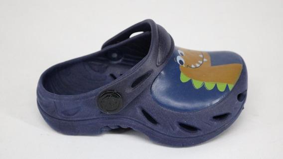 Babuche Plugt Dinossauro Baby Azul Marinho