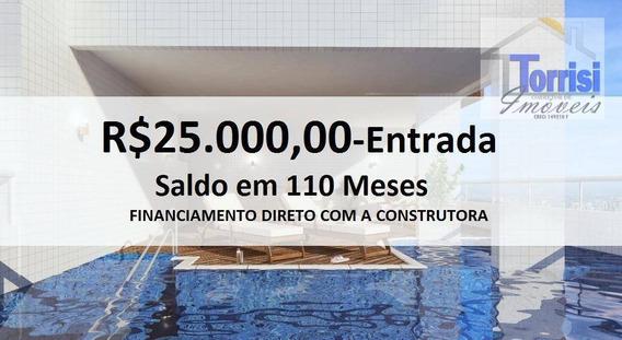 Lançamento Em Praia Grande, 01 Dormitório, Sacada Gourmet, Lazer Completo - Ap1369 - Ap1369