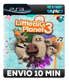 Littlebigplanet 3 - Psn Ps3 - Português Br - Pronta Entrega
